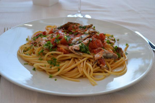 Spaghetti alle alici Angiolina