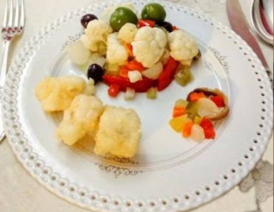 Baccala' fritto e insalata di rinforzo