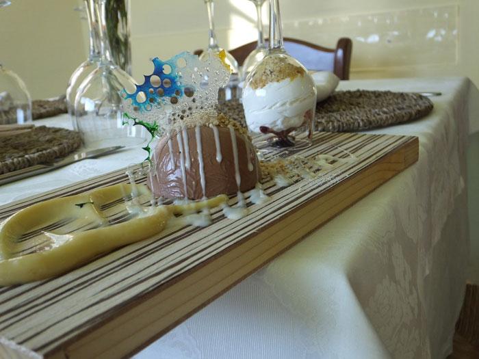 Agriturismo La Vialla, cupoletta al cioccolato e croccantino mandorlato