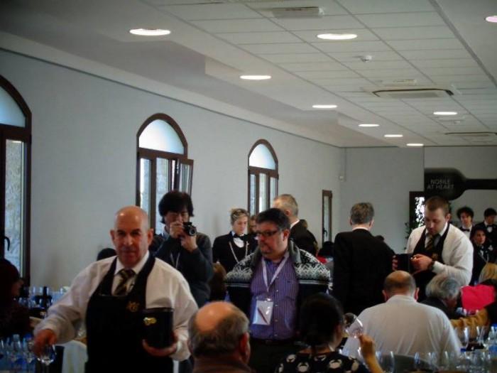 Anteprima del Vino Nobile di Montepulciano, la sala di degustazione