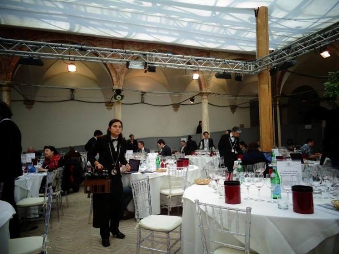 Benvenuto Brunello, la sala degustazione per la stampa - foto di Maurizio Valeriani