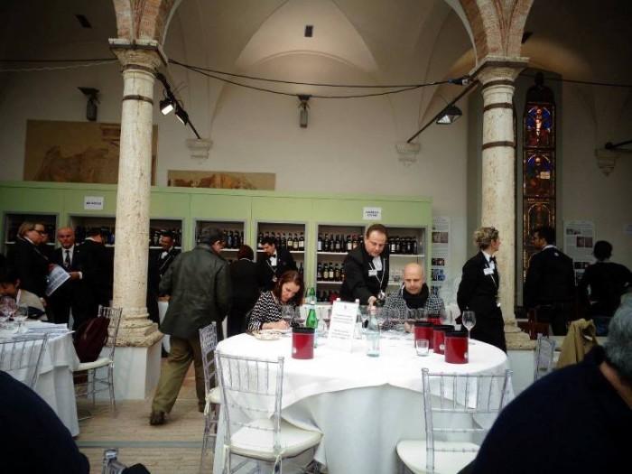 Benvenuto Brunello, la sala degustazione per la stampa
