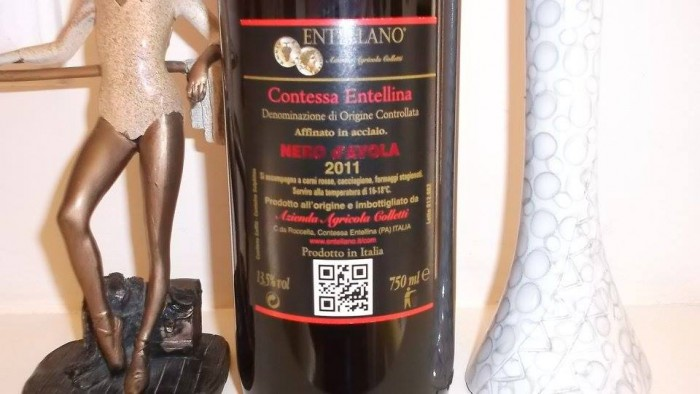 Controetichetta Don Luca Nero d'Avola Contessa Entellina Doc 2011 Entellano