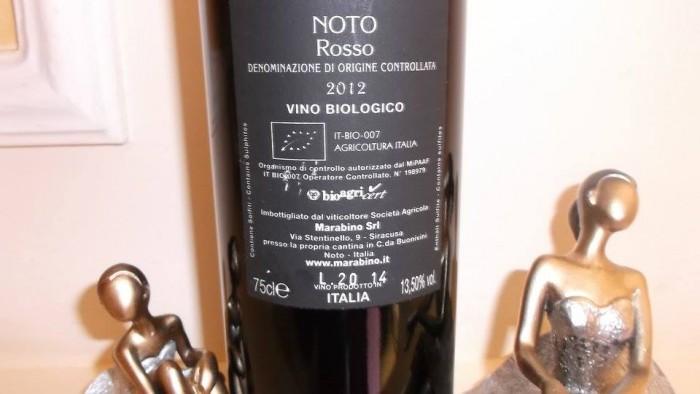 Controetichetta Noto Rosso Doc 2012 Marabino