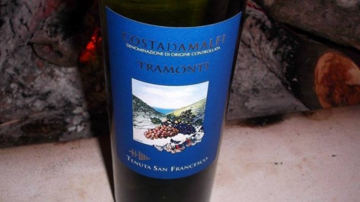Costa d'Amalfi Tramonti Bianco Doc Tenuta San Francesco