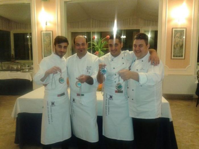 Da sinistra Antonio Donnarumma, Benedetto Castellano, Luigi Nastro, Luigi Malafronte