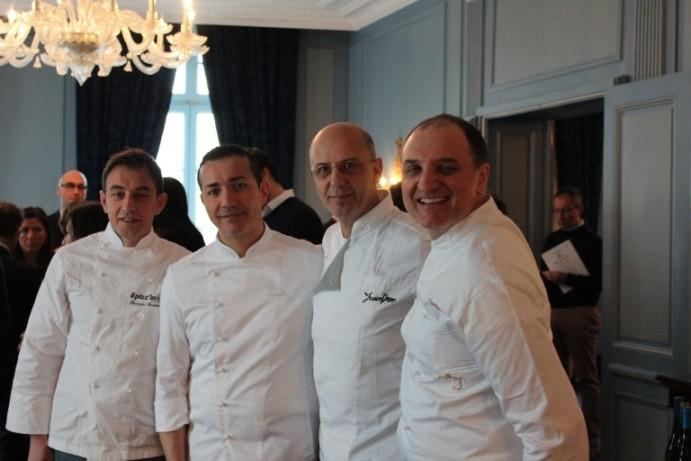 Da sinistra: Giuseppe Giordano, Gino Sorbillo, Franco Pepe e Gennaro Salvo