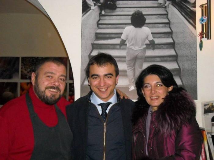 Da sinistra: Mario Lombardi, Isidoro Vajra  e Marina Alaimo