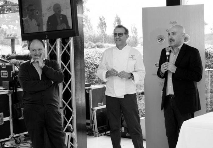 Enzo Vizzari, Massimo Bottura e Albert Sapere, foto dell'edizione 2013