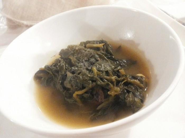 Fenesta Verde, minestrina in brodo con scarulelle e cicoria