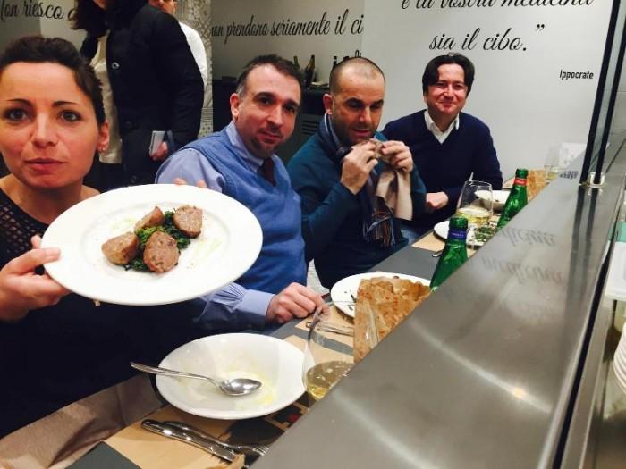 Gourmeet Napoli, attenti a quei quattro. Marianna Vitale, Alessandro Palmieri, Pino Esposito, Massimo Florio