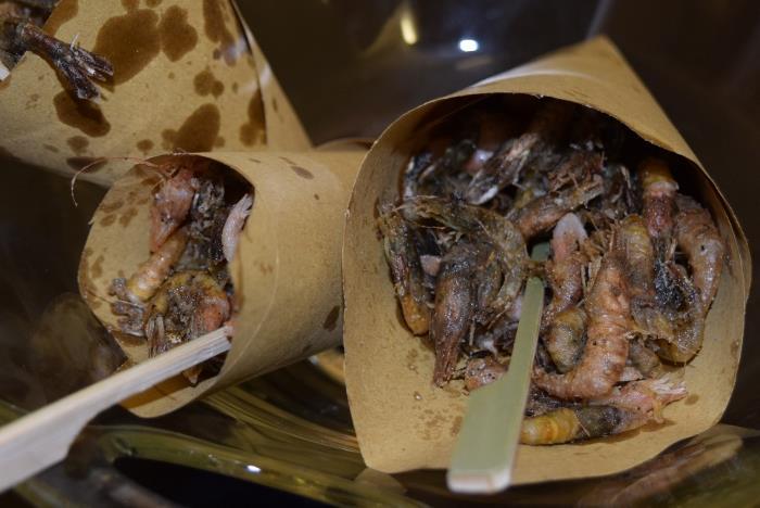 I cuoppi di gamberetti fritti di Lino Scarallo