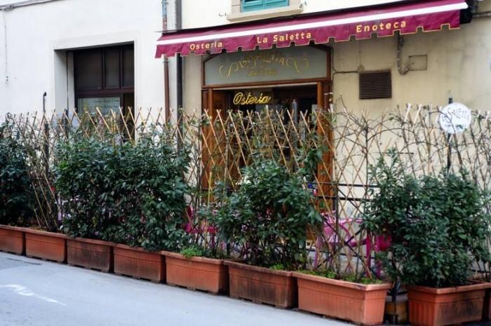 Osteria La Saletta, l'ingresso