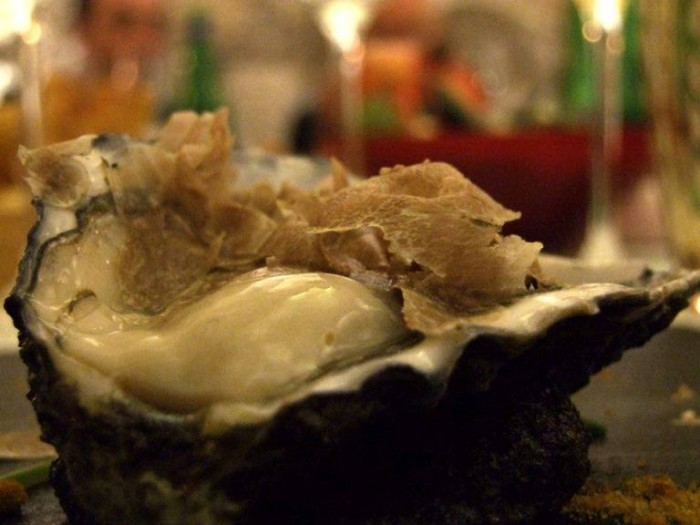 Ostriche Gillardeau e Tartufo Bianco d'Alba