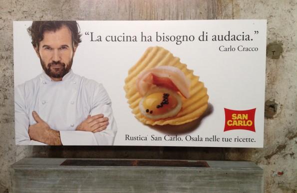 Carlo Cracco e le patatine San Carlo