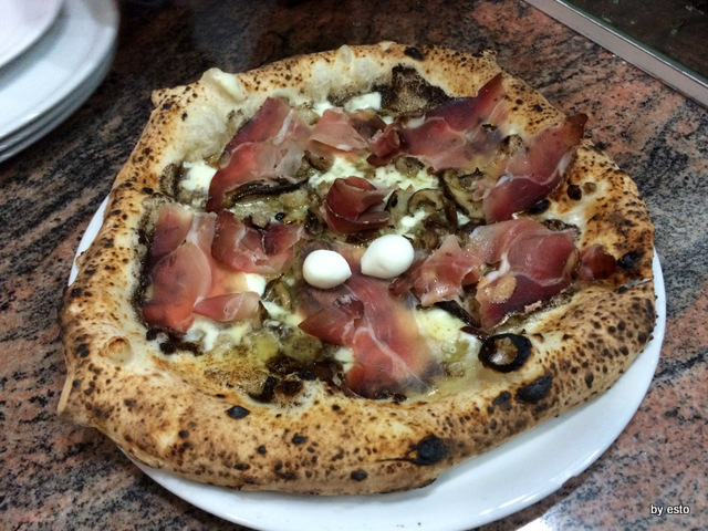 Pizzeria Pulcinella, Ciro Casale porcini e speck