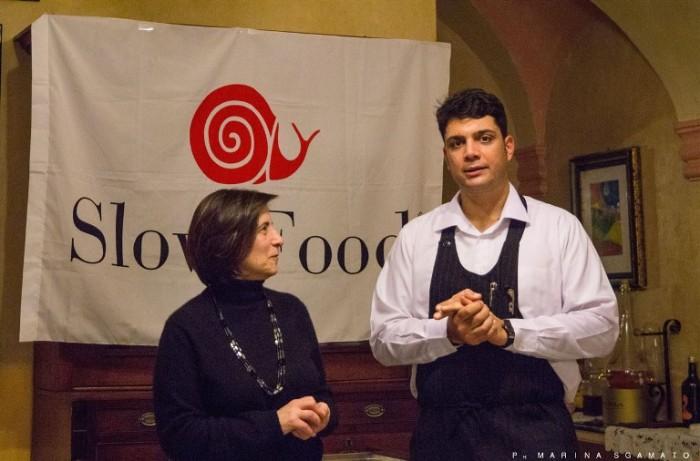Restituta Somma, fiduciaria della Condotta Slow Food Campi Flegrei, e Antonio Palumbo