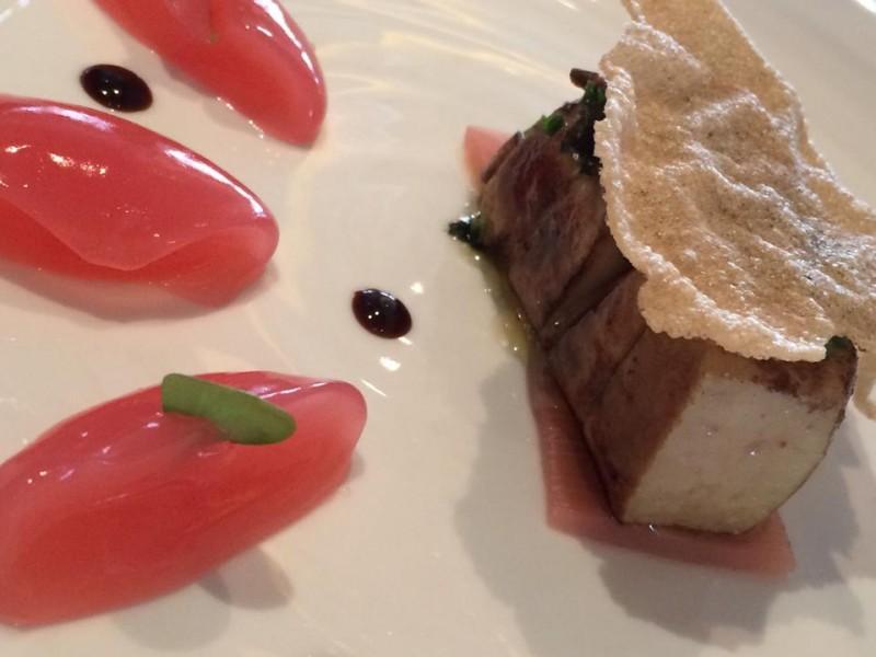 Petrus, il foie gras