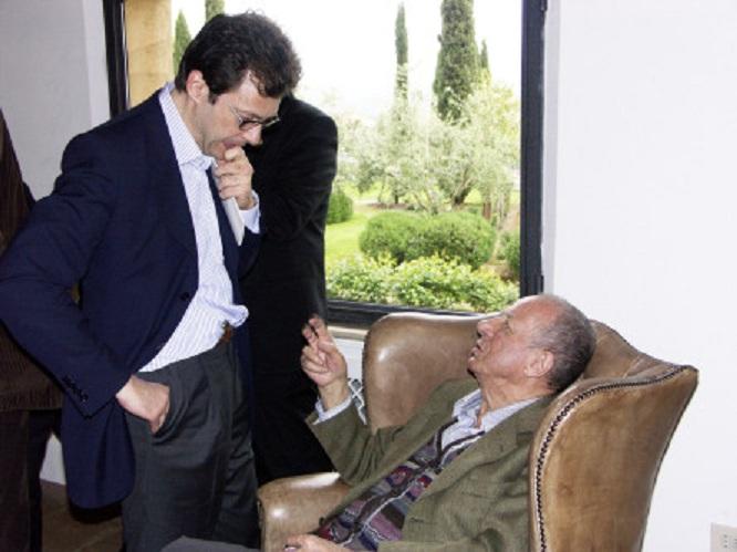 Fabio Rizzari e Gino Veronelli