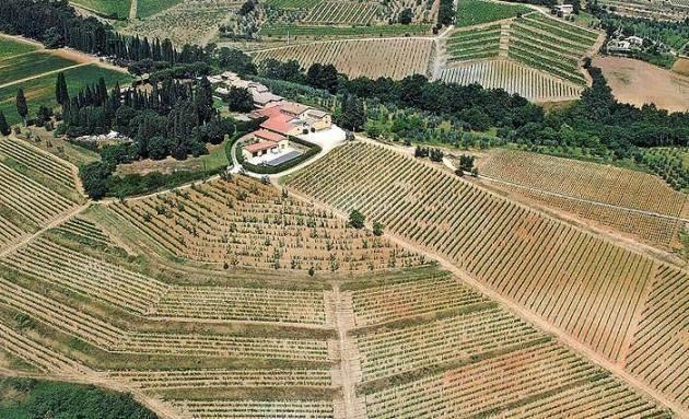 veduta aerea del Greppo - foto dell'azienda Biondi Santi