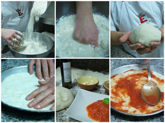 'A pizz rind 'u ruot di Pasqualino Rossi, le fasi di preparazione