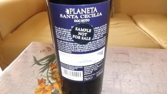 Controetichetta Santa Cecilia Noto Doc 2010 Planeta