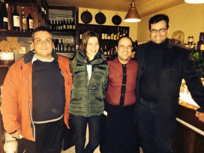 Da sinistra Marco Contursi, Francesca Salerno, Lorenzo Principe e Giuseppe Cascella