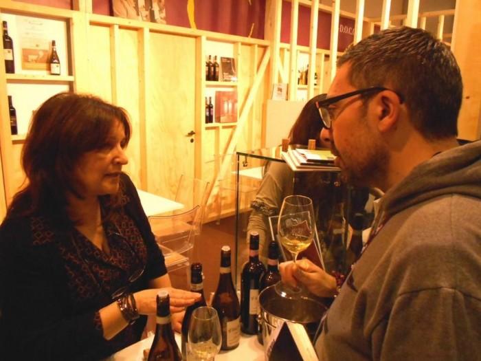 Diamante Gaita ed il giornalista Vincenzo Alvaro