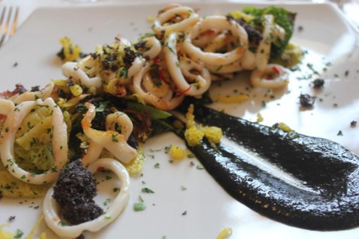 Dongione, calamari
