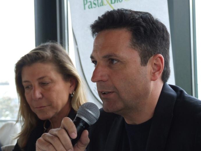 Francesca Verrigni e Nicola De Vita durante il workshop Pasta&BioChef