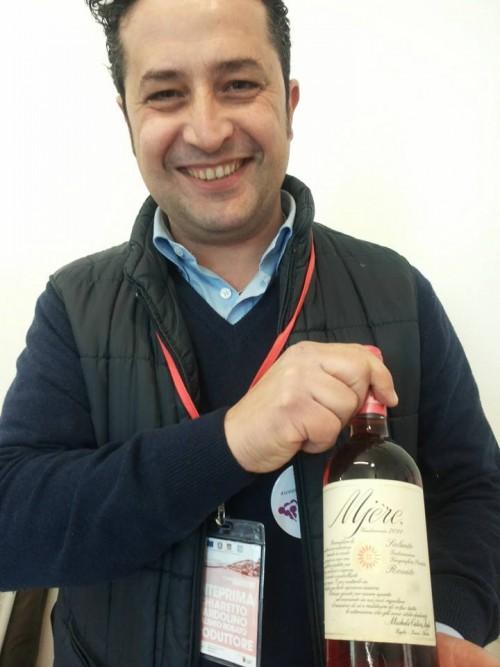 Giovanni Calò con Mjere Rosato 2014