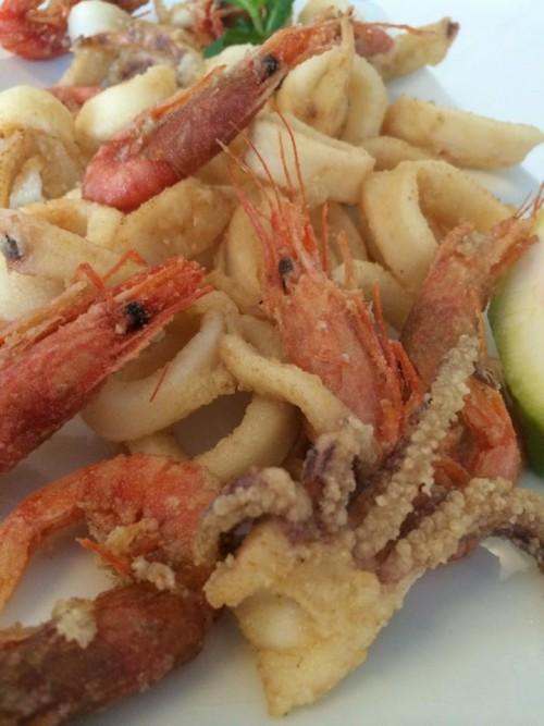 Il Ghiottone, frittura di gamberi e calamari