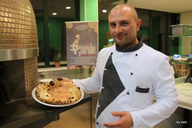 Le Parule Giuseppe Pignalosa Pizza con mortadella