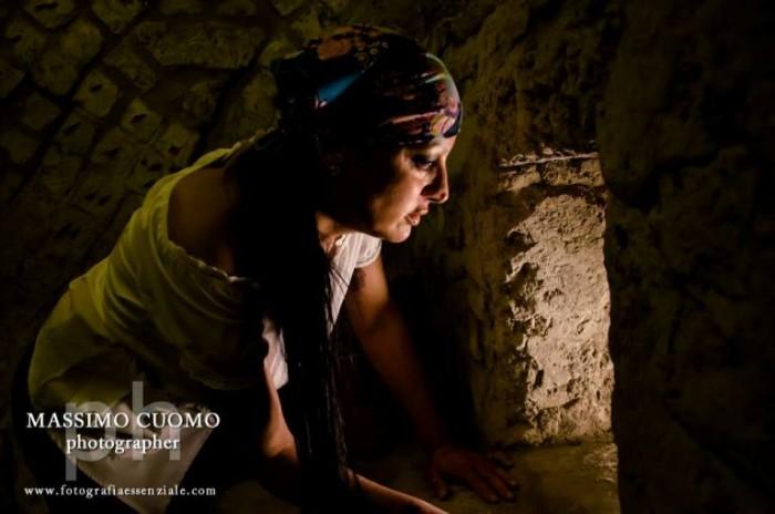 Maria Cacialli al forno del mercato romano sotto gli scavi della Basilica di San Lorenzo