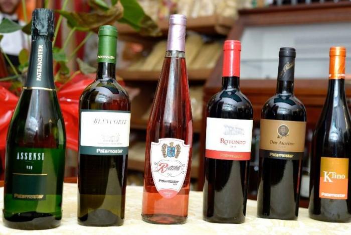 Paternoster, i vini