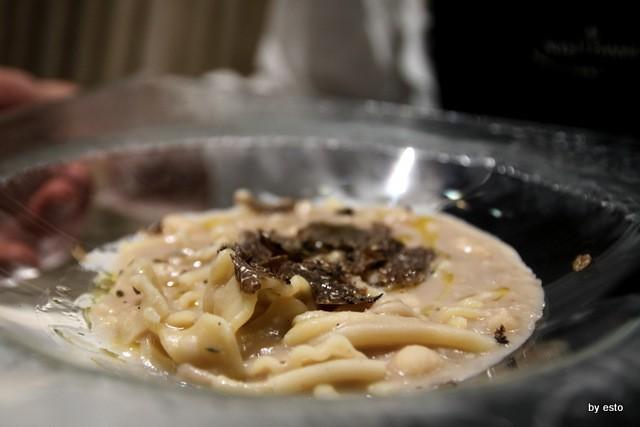 Tabernola Il Clanio Angelo Fabozzo  pasta fagioli e  castagne tartufo nero