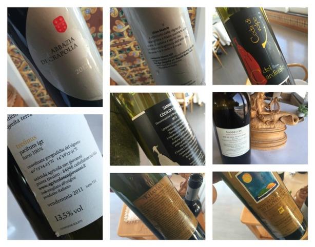 Taverna del Capitano, i vini