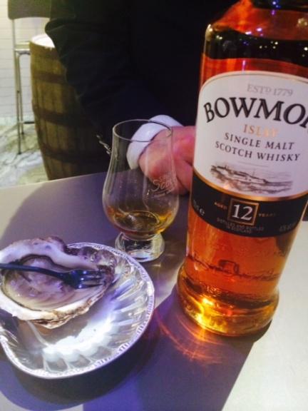 Whisky Bowmore e ostriche