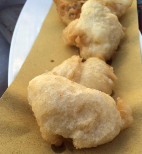 La Baia, baccalà in tempura