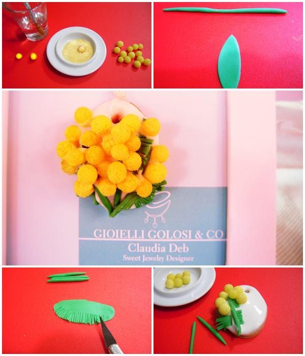 tutorial gioiello goloso mimosa