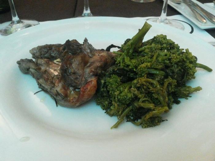 Agnello con broccolo aprilatico di Paternopoli