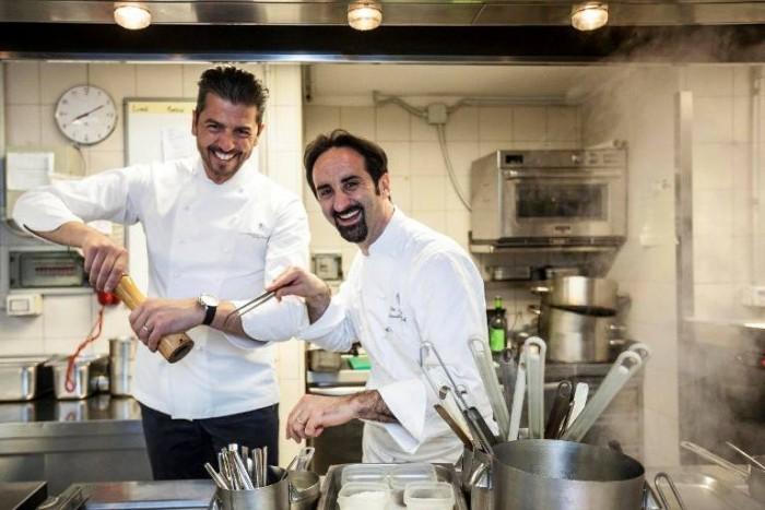 Andrea Berton e Vito Mollica si divertono prima della cena