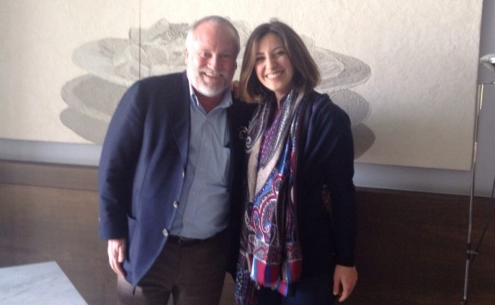 Antonello Colonna con Amelia Cuomo
