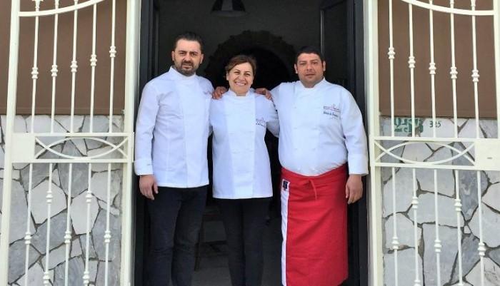 Apertura Appia Antica, 19 aprile 2015. In foto Emilia D'Albenzio (centro) con Antonio Mastropietro e Antonio Di Crescenzo