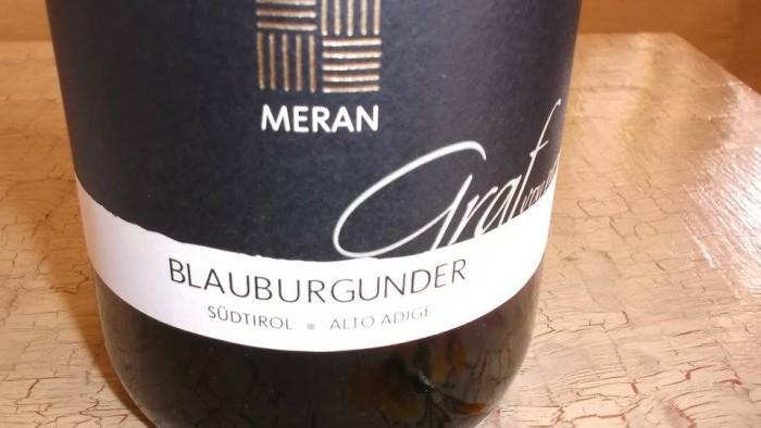 Blauburgunder Pinot Nero Graf Von Meran Sudtirol -  Alto Adige Doc 2012 Meran Burggrafler