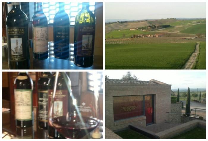 Canalicchio di Sopra, i vini, il panorama e gli uffici