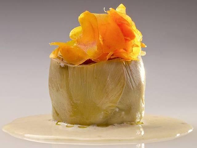 Carciofo di Schito, bottarga di muggine e salsa di alici - foto di Luciano Furia