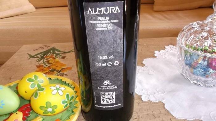 Controetichetta Almurà Primitivo Puglia Igp 2012 Recchia Leonarda