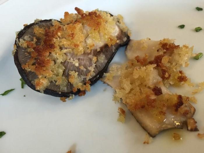 Da Peppe a Rotonda, funghi cardoncelli impanati