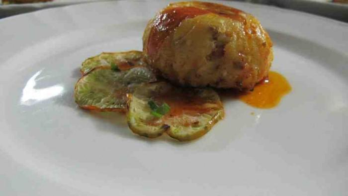 Da Peppe a Rotonda, il tortino di melanzane rosse